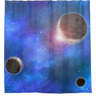 Planeten und Nebelflecke Duschvorhang