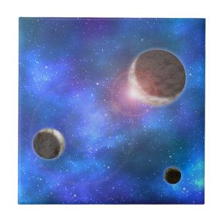 Planeten und Nebelflecke Fliese