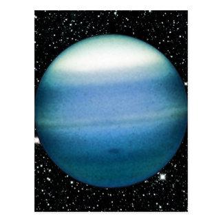 PLANETEN-URANUS-Sternhintergrund (Sonnensystem) ~ Postkarte