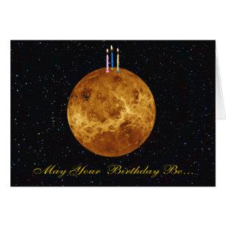 Planeten-Venus-Geburtstags-Karte Karte