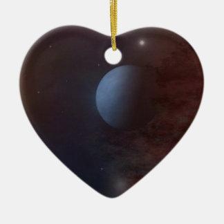 Planetenhimmel Keramik Herz-Ornament