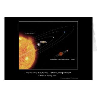 Planetensysteme - Größen-Vergleich - der Betrug Karte