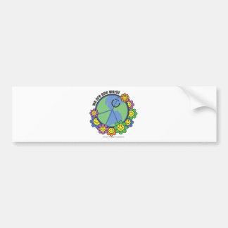 Planetpals-Wir sind eine WeltfriedensLiebe-Erde Autoaufkleber
