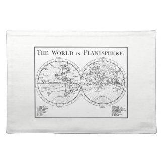 Planisphere-Tischset Stofftischset