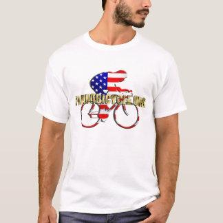Plano-Fahrrad-amerikanischer Patriot-radfahrenlogo T-Shirt