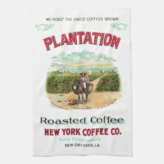 Plantage gebratener Kaffee Geschirrtuch