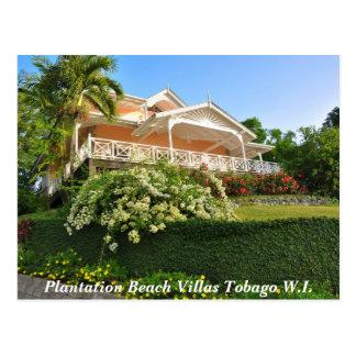 Plantagen-Strand-Landhäuser Tobago W.I. Postkarte