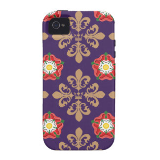 Plantagenets fleur Muster Vibe iPhone 4 Cover