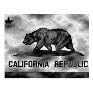 Plasma-Kalifornien-Flagge Postkarte