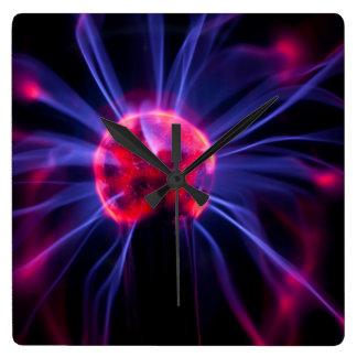 Plasma Quadratische Wanduhr