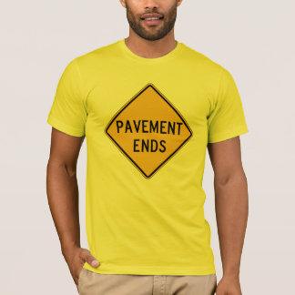 Plasterung beendet 1, Verkehrs-Warnzeichen, USA T-Shirt