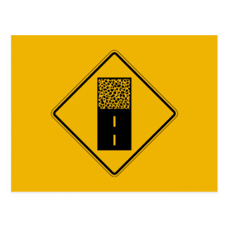 Plasterung beendet 2, Verkehrs-Warnzeichen, USA Postkarte