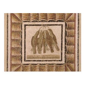 Plasterung, die fünf Drosseln, von EL-Jem Postkarte