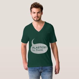 Plastik!? /Amerikanischer T - Shirt V-Hals das