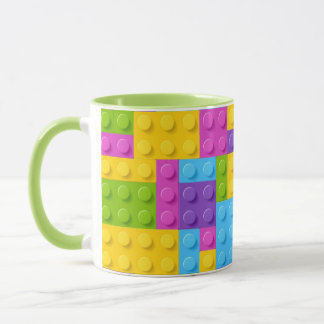 Plastikbau blockiert Muster Tasse