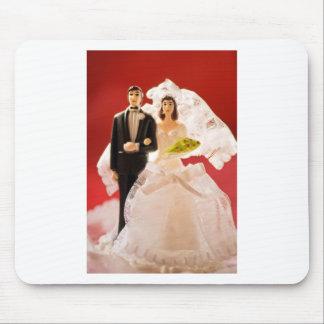 Plastikbraut-und Bräutigam-Hochzeitstorte Mousepad