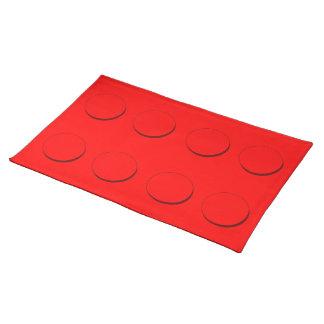 PlastikGebäude-Block (rot) Tischset