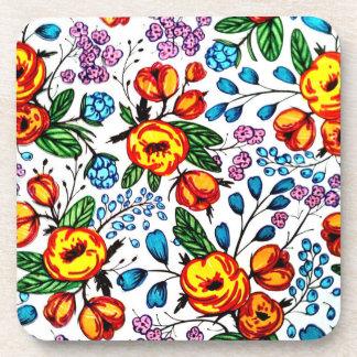 PlastikUntersetzer der hübschen Blüten - Set von 6 Getränkeuntersetzer