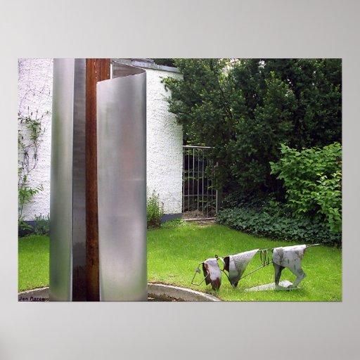 Plastique-Gartenarbeit Poster