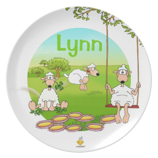 """plate for kids with name """"SHEEP"""" Teller"""