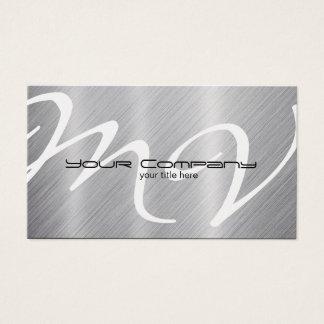 """Platin/Aluminium""""Blick"""" Visitenkarten"""