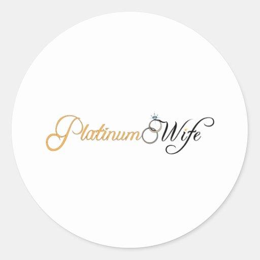 Platin-Ehefrau Runde Sticker