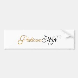 Platin-Ehefrau Auto Sticker
