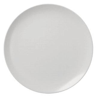 Platin-Farbige Platte Flacher Teller