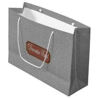 Platin-große Geschenk-Tasche Große Geschenktüte