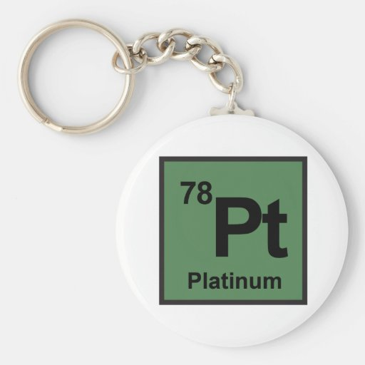 Platin Keychain Schlüsselband