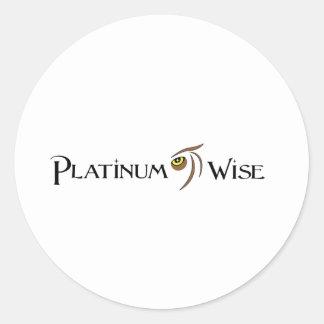 Platin-kluge Kleidung Co. Runde Aufkleber