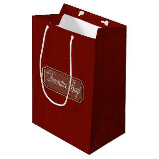 Platin-mittlere Geschenk-Tasche Mittlere Geschenktüte