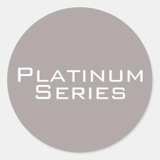 Platin-Reihen-Aufkleber Runder Aufkleber