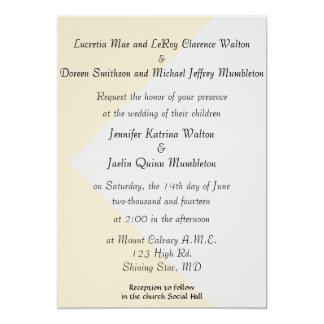 Platin-u. Perlen-Hochzeits-Einladung mit Eltern 12,7 X 17,8 Cm Einladungskarte