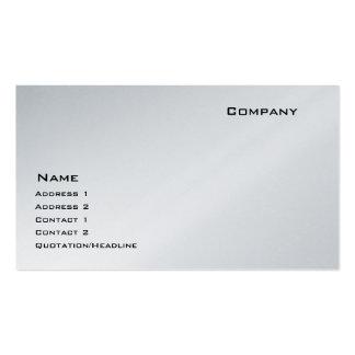 Platin Visitenkarten Vorlage