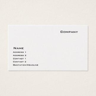 Platin Visitenkarten