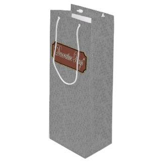 Platin-Wein-Geschenk-Tasche Geschenktüte Für Weinflaschen