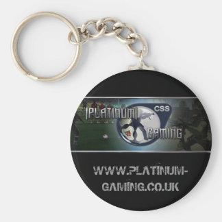 Platin, WWW.PLATINUM-GAMING.CO.UK Standard Runder Schlüsselanhänger
