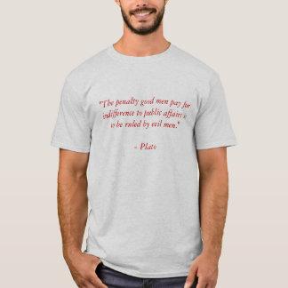 Plato auf Gleichgültigkeit T-Shirt