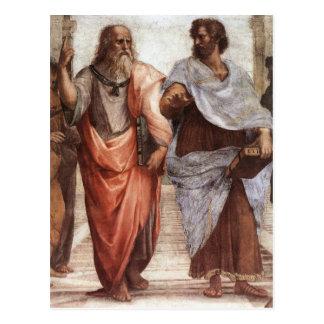 Plato und Aristoteles Postkarte