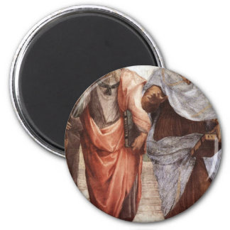 Plato und Aristoteles Runder Magnet 5,7 Cm