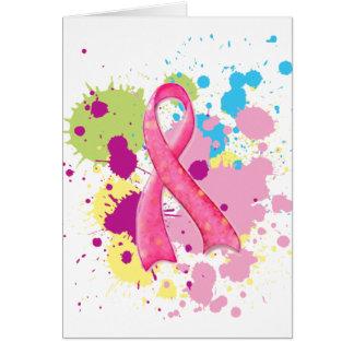 Platsche rosa Band-Karte Karte
