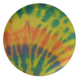 Platte der gefärbten Krawatte #2 Flacher Teller