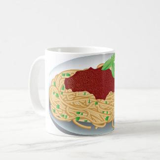 Platte der Spaghetti-Tasse Kaffeetasse