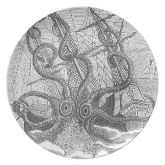 Platte feine Schnitzerei Calamari (kraken) Party Teller