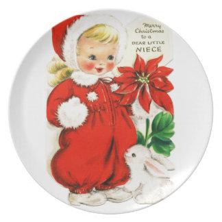 "Platte ""frohe Weihnachten zu lieben Little Niece "" Melaminteller"