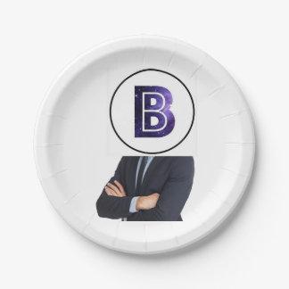 Platte Herrn B Pappteller