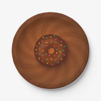 Platte mit Schokoladenkrapfen Pappteller