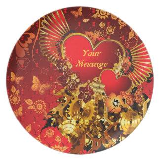 Platte Steampunk Valentinsgruß-2 Flache Teller