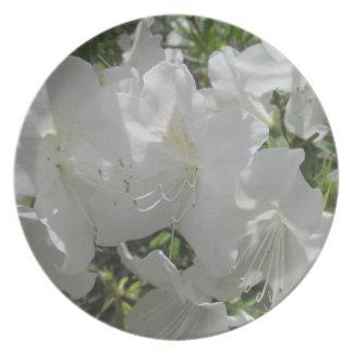 Platte - weiße Azaleen Melaminteller